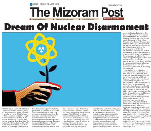 Dream of Nuclear Disarmament